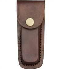 PA33234 Brown Leather Folding Knife/Multi-Tool Belt Sheath