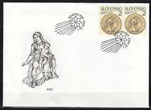 SLOVAKIA 1993  FDC SC # 173  Christmas stamp