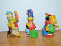 Vintage THE SIMPSONS Camping Figures Lot Vinyl Figurines 1990 Homer Bart Marge