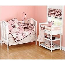 """NEW BEANSPROUT """"TALULLAH"""" TULIPS 6 PC CRIB BEDDING SET DIAPER STACKER VALANCE"""