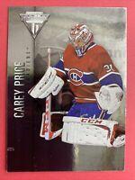 2013-14 Panini Titanium Hockey #13 Carey Price Montreal Canadiens