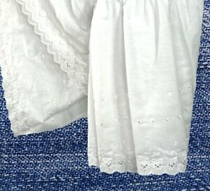 """Springs Industries Dust Ruffle Full Size 54 x 76 Eyelet White 14.5"""" Drop Country"""