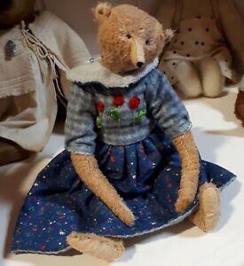 🤗Künstlerteddy-Künstlerbär, lovely bears, Filomena bekleidet, 26 cm, hand made❣