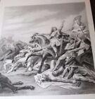 Antique c1865 Print BATTLE OF TOLBIACUM Ary Scheffer