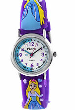Young Girls Time Teacher Watch Purple 3D Ice Princess Silicone Strap by Ravel