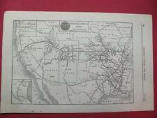1920 MISSOURI PACIFIC RAILROAD SYSTEM MAP DEPOT LOCATION 97 YEARS OLD