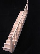Staircase w/ Railing Right - 15 steps Assembled - 1/12 scale dollhouse miniature