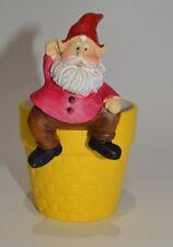 New listing Gnome Shelf Sitter Hanger Huggers Garden Flower Pot Statue Red Pink #17
