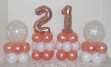 21st Birthday -Rose Gold -4 Pack Party Set -Table Balloon Decoration Display Kit