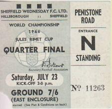 More details for world cup 1966 west germany v uruguay ticket at hillsborough