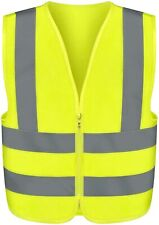 High Visibility Safety Vest Neon Yellow For Construction And Road Safety