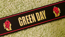 """Green Day American Idiot 8 1/4"""" Silicone wristband with 2 Size (L/S) Metal Snaps"""