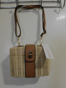 LAURA JONES Straw Box Bag