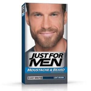Just For Men Mustache Beard Light Brown Brush In Colour Gel Kit Coarse Hair