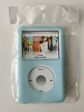 Blue Silicone Skin Case for iPod Classic Thin with Click Wheel 5 & 7 Generation