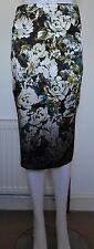 Pretty Floral Knee Length Pencil Skirt, Size 12