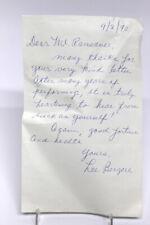 Original Autogramm Autograph Brief LEE BERGERE Raumschiff Enterpriese