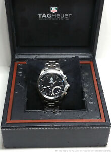 Tag Heuer Calibre S 1/100th Split Second Chronograph Mens Steel Watch w Box
