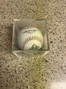 2008 WORLD SERIES OFFICIAL RAWLINGS BASEBALL PHILLIES RAYS LOGOS IN SPORTSCUBE