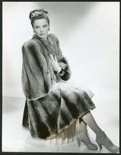 GERALDINE BROOKS BEAUTIFUL IN FUR COAT Original Vintage 1940s PORTRAIT Photo