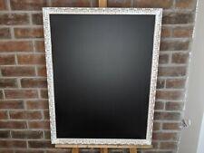 Large White Vintage Distressed Shabby Chic Ornate Frame Chalk Blackboard Wedding