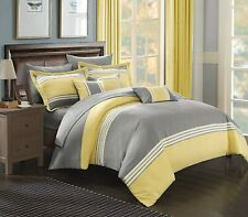 Chic Home 10 Piece Falcon Bed in a Bag Comforter Set, King, Yellow