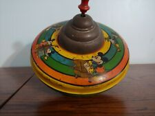 1930's Walt Disney Enterprises Spinning Tin Litho Plunger Top