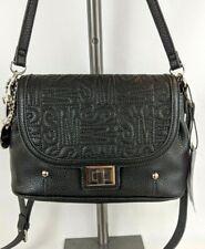 Steve Madden Logo Flap Shoulder Tote Crossbody Handbag Purse Brown