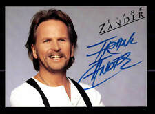 Frank Zander Autogrammkarte Original Signiert ## BC 87313