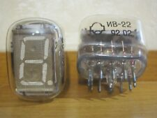 6x IV-22 / IV22 VFD TUBES for CLOCK (NEW, NOS, OTK, MATCHED DATE, TESTED 100%)