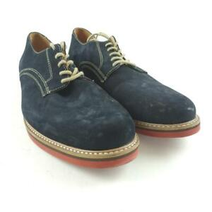 Nordstrom 1901 Men Navy Nubuck Suede Lace Up Oxford Dress Shoes Size 9