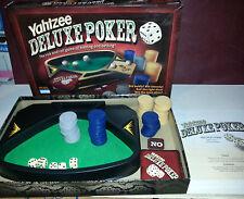 Yahtzee Deluxe Poker Game Complete excellent condition Dice Die