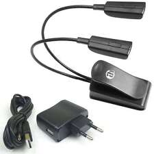 LED Schwanenhalslampe Leselampe Leuchte 2 Arm Klemmlampe + Steckernetzteil, USB