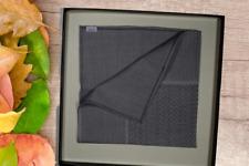 ZILLI SILK ZILLI LOGO GRAY Sartorial POCKET SQUARE Handkerchief MADE IN FRANCE
