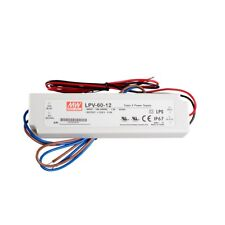 Mean Well LPV-60-12 Power Supply Switch, 12V/5A/60W IP67