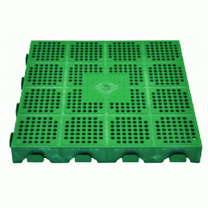 piastrella verde 40x40xh4 cm per giardino in pvc modulabile e drenanate