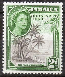 Jamaica 1953 QEII Royal Visit mint stamp  LMM