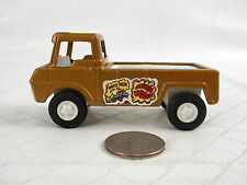 Vintage Tootsie Toy Pick Up Truck Wheelie Wagon 1969 Metal Gold USA #3293