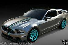 All Year Ford Mustang 2 COLOR OFFSET Rally stripes Stripe Graphics Decals LX GT