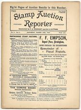 March 1898 Stamp Auction Reporter #6 incl. prices realized for today's rarities
