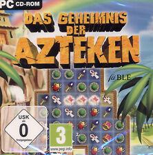 CD-ROM + PC Spiel + Das Geheimnis der Azteken + Artefakte + 3 Gewinnt + Vista