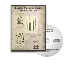 Leather Making, Leatherwork, Leather Craft, How To Manufacture 24 Books CD B427