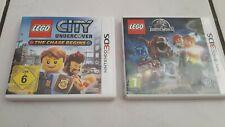 Nintendo 3DS Spiele LEGO CITY UNDERCOVER und JURRASIC WORLD  sehr gut