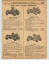 1927 PAPER AD Pedal Car Dodge Roadster Durant Ford Playboy Fire Chief