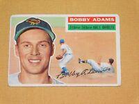 VINTAGE OLD 1950S BASEBALL 1956 TOPPS CARD BOBBY ADAMS BALTIMORE ORIOLES