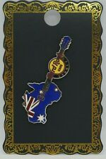 "Hard Rock Cafe -Vintage HRC Sydney ""Australia MAP"" Guitar Pin - Limited Edition"