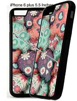 Sugar Skulls Pastel Day Dead Mexican Phone Case Cover For IPhone 4s 5s 6 7 8 X