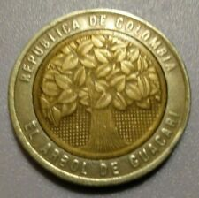 1996 Columbia 500 Pesos Bi-Metal Coin