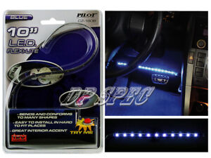 """BLUE 10"""" LED STRIP HEAD TAIL LIGHT BUMPER GRILLE DASH SEAT FOR LAND ROVER GEO"""