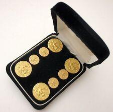 BOTTONI METALLO CERVI RIPRODUZIONE VINTAGE Metal buttons Queen Marie Antoinette